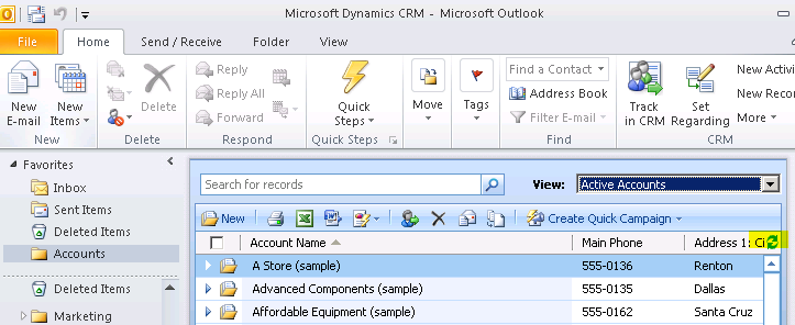 How To Refresh A Microsoft Crm 2011 Outlook Client View